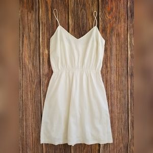 NWT J Crew Womens Linen Cami Dress White Sz Med